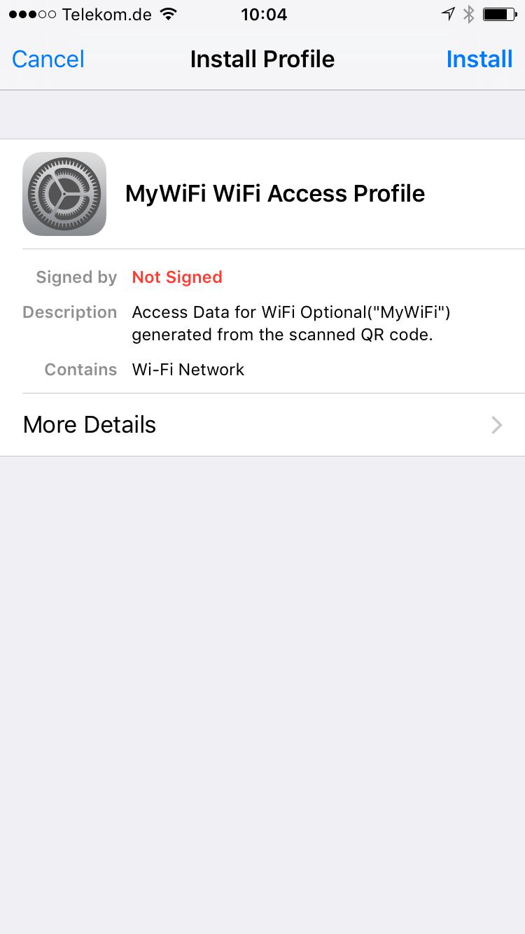 The App - WiFiQonnector
